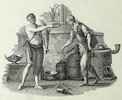 BERUFE - KUPFERSCHMIED & KESSELMACHER - Frenzel - Kupferstich 1810