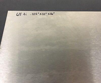Titanium Sheet 6al-4v .125 X 12 X 16 Grade 5 Plate Gr5