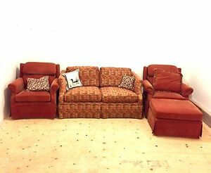 4 piece living room set. Love seat, 2 Arm Chairs & Ottoman