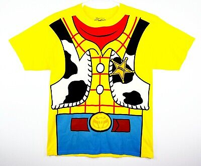 Men's Official Disney Toy Story Woody Costume Yellow Graphic T-Shirt Size Large