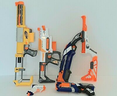 Nerf Gun Blaster Lot Of 6 Recon CS6 Recon MKII Crosscut Strongarm Tested Works