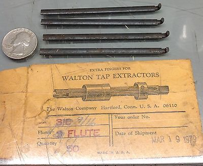 4 Pieces Walton Tap Extractor Replacement Finger Blades 916 Type Nos Machine
