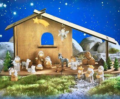Kinderkrippe Adventskalender  NEU Krippe für Kinder mit Holzstall * ()