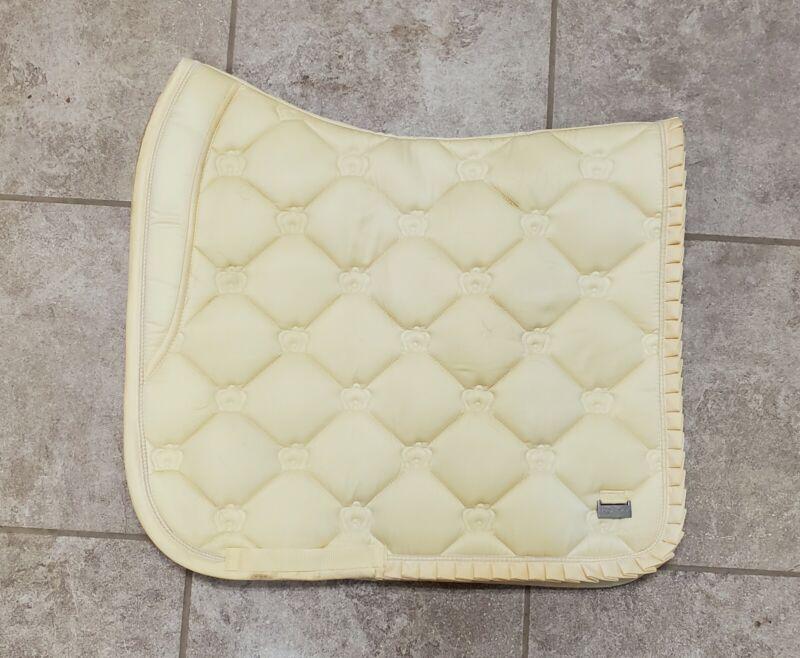 PS of Sweden Lemon Ruffle Dressage Pad - Full