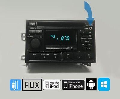 (95-99 Nissan Maxima Xterra Frontier Altima AMFM CD PN-2218I Aux Input OEM STEREO)