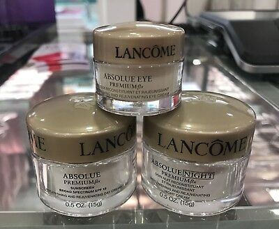 3 PCs Lancome Absolue Premium Bx Day Cream & Night Cream 0.5oz & Eye Cream (Night Cream Eye Cream)