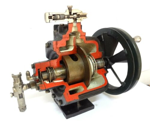 RARE VINTAGE SKELETON COMMERCIAL DEMO STEAM MOTOR MECHANICAL ENGINEERING 30 LBS