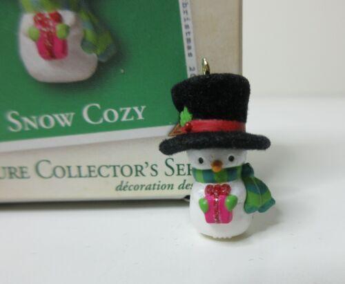 Hallmark Keepsake Ornament Snow Cozy Snowman 2003 Miniature Christmas MIB
