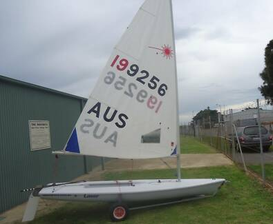 Laser sailing boat Largs North Port Adelaide Area Preview