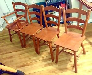 Chairs (dining set of 4, and bean bag)