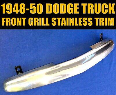 ✅ 1948 - 1950 DODGE B-SERIES PICKUP TRUCK STAINLESS STEEL GRILL TRIM HOOD EMBLEM