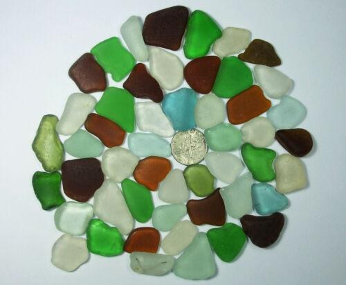 50 GENUINE Beach Sea Glass ~ Surf Tumbled ~ Mixed Colors ~ Hawaii ~ Mosaics/Art