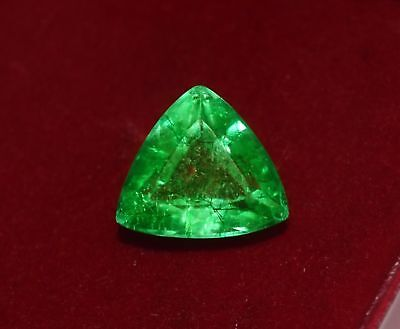 12.55x11.74mm (6.50cts) TRILLIANT-CUT CERTIFIED NATURAL (GGL) COLOMBIAN EMERALD
