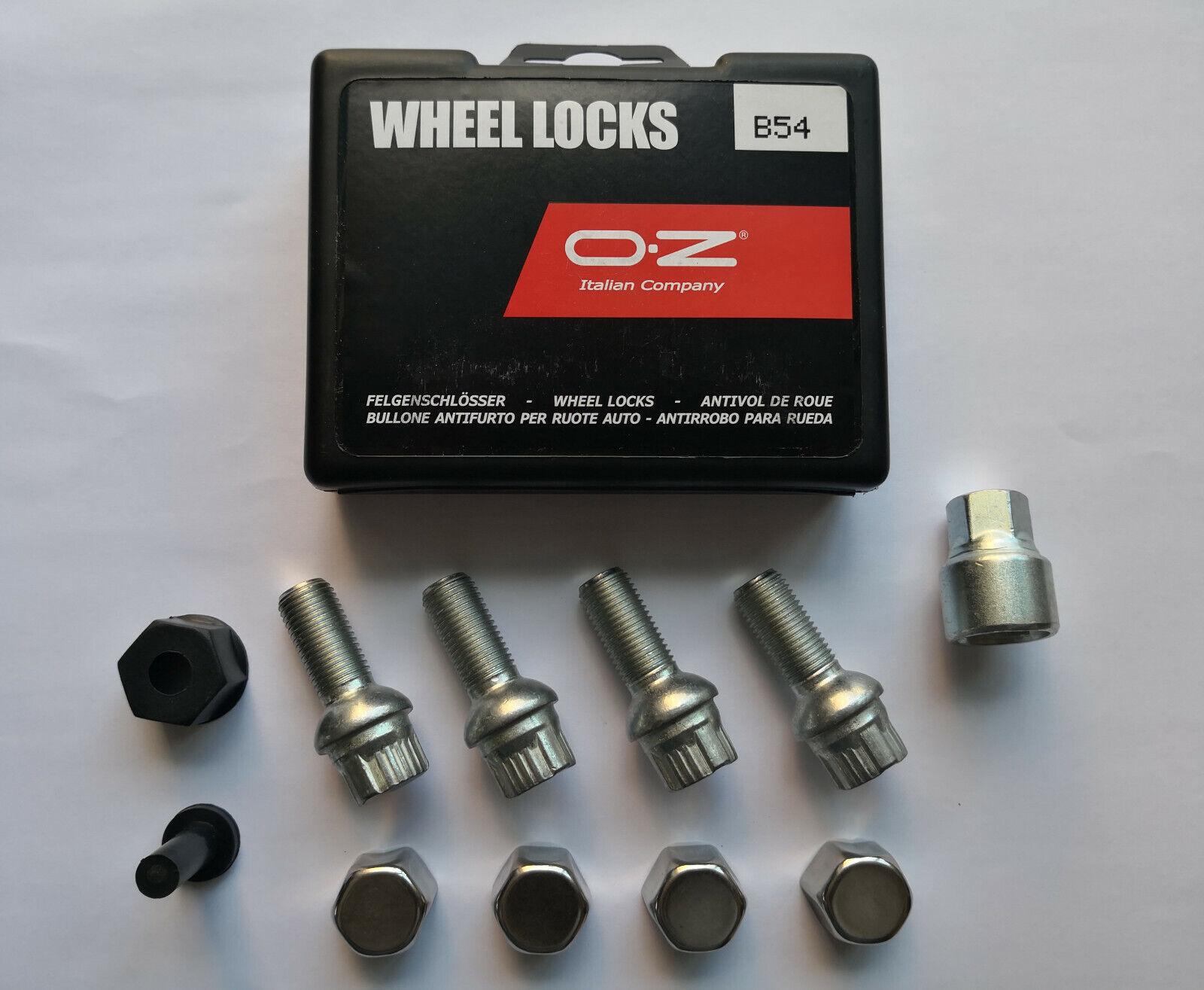 Radschrauben OZ B96 Felgenschloss M14x1.5x35mm Kugelbund für Alufelgen