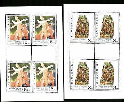 LOT 84931 MINT NH 237 238 SHEETS ART MIKULAS GALANDA Z HLOHOVCA  FROM SLOVAKIA