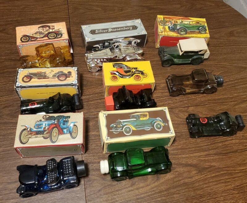 Lot Of 9 Vintage Avon Car Decanters