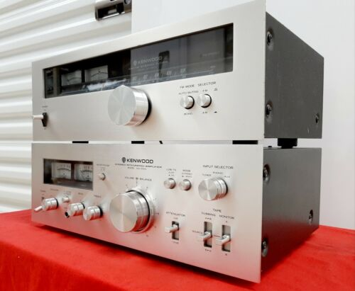 Fully Serviced+All Lamps-KENWOOD Tuner+Amplifier Combo-KA-5500+KT-5500-NM