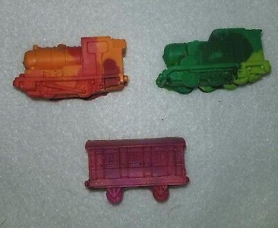 (Thomas the Train Crayon Birthday Party Favors Set of 12 From Lego Molds)