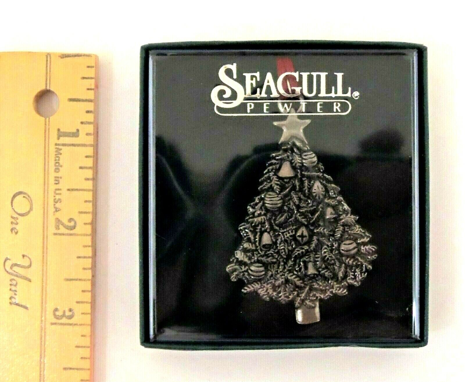 BEAUTIFUL Christmas Tree Pewter Ornament By Seagull NEW 3.5  - $9.95