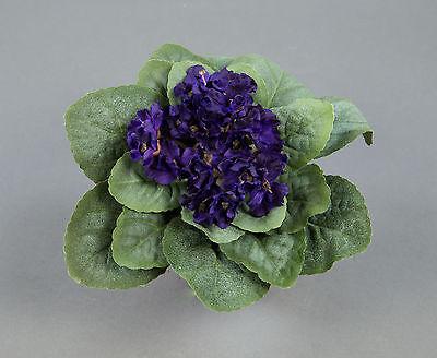 Usambaraveilchen 22x14cm dunkellila ohne Topf GA künstliche Veilchen Kunstblumen ()