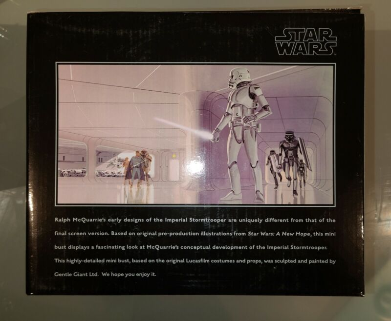 Mcquarrie Concept Stormtrooper & Snowtrooper Busts Star Wars SDCC Exclusive ESB