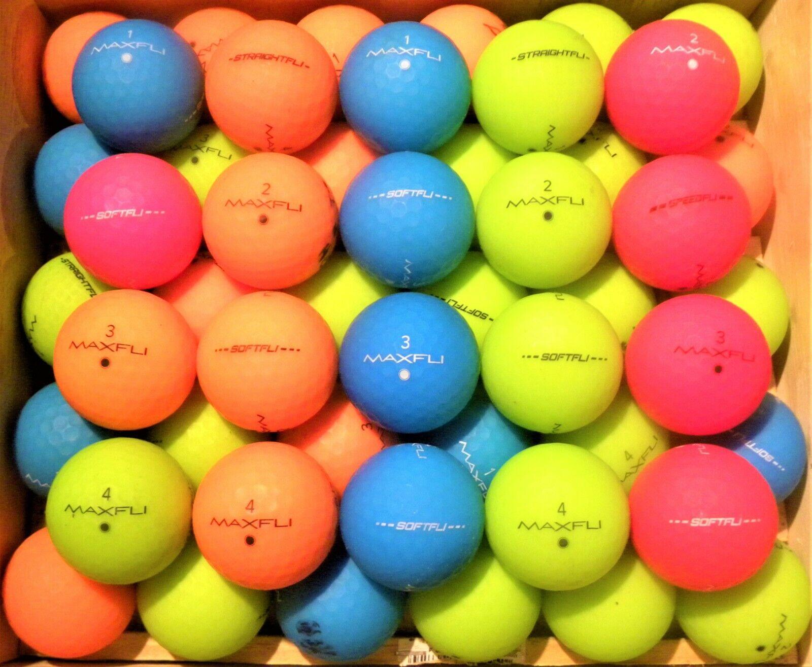 3 Dozen  MATTE COLOR Maxfli SOFTFLI & STRAIGHT MIX Golf Ball