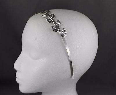 Silver shiny vine laurel branch leaf crown Leaves headband hair band goddess