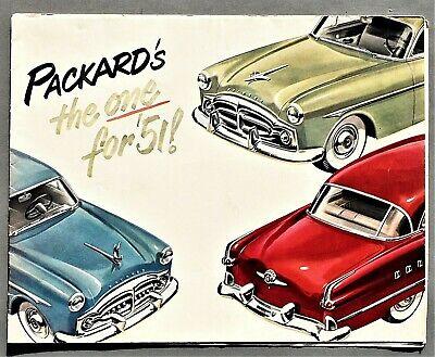 "ORIGINAL 1951 PACKARD 200, 300, PATRICIAN 400 FOLDER SALES BROCHURE ~ 9.5"" X 12"""