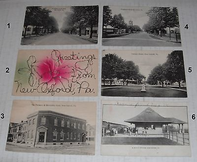 Postcards--6 different New Oxford, Pa Landmarks--H...over 100 years old.. (Over Collection Oxford)