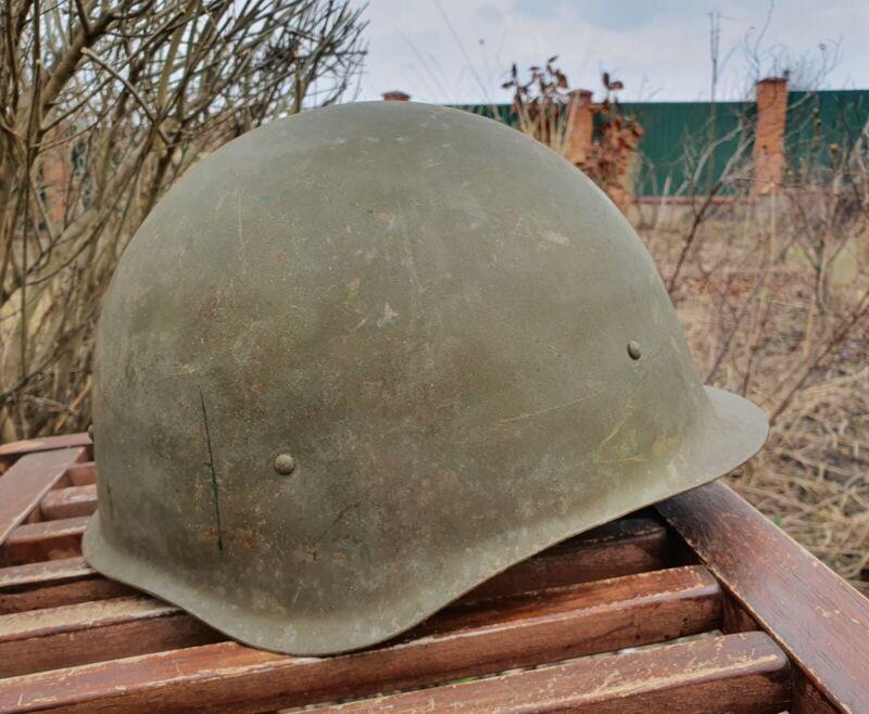 Original Military Helmet SSh 40 Steel WW2 Soviet Army RKKA WWII Russian N 2-317