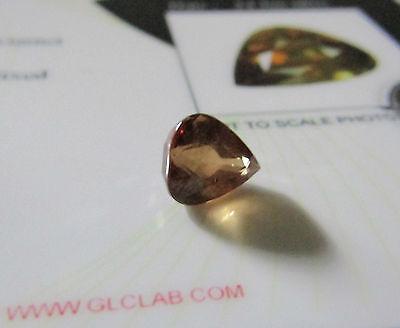 Rare Certified 1.95ct Pear Cut Colour Change Garnet.