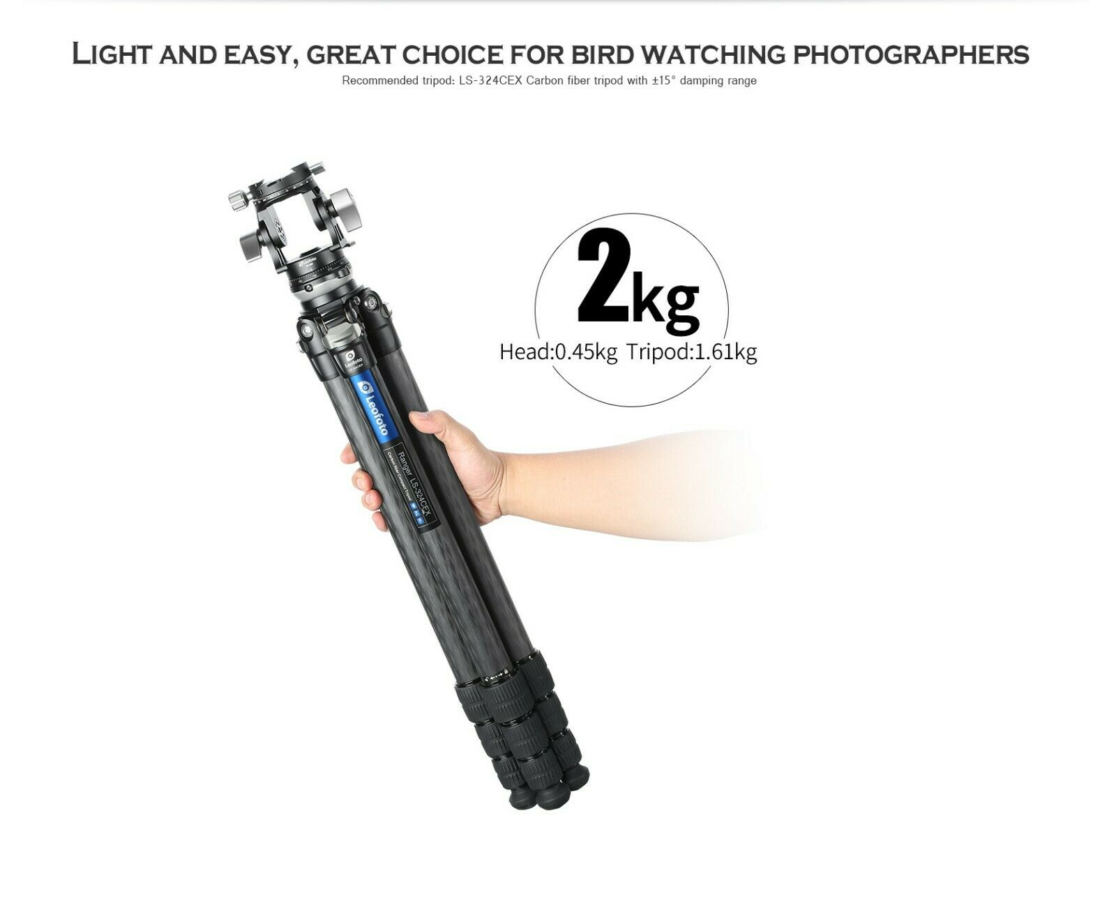 US Dealer Leofoto VH-30R Monopod 2-way Long Lens Head W/ Pano Clamp And Handle - $239.00
