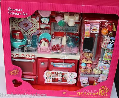 NEW AMERICAN GIRL OUR GENERATION DOLL KITCHEN BAKING OVEN FRIDGE ...
