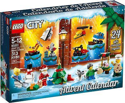 LEGO City 2018 Christmas Advent Calendar 60201 Santa Snowman Holiday NEW SEALED