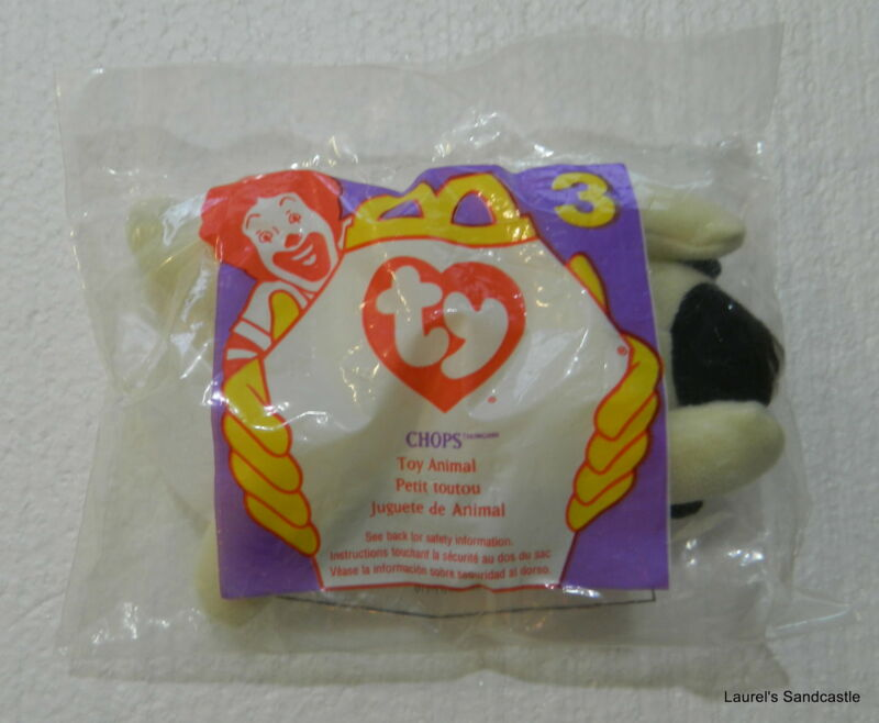 Chops ~ #3 1996 TY Beanie Babies McDonald's Happy Meal Toy Animal Sealed!