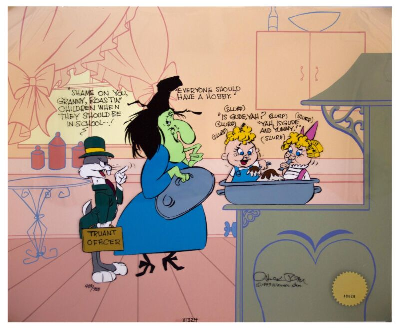 Chuck Jones Signed Limited Edition Bugs and Witch Hazel