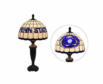 Yogoart 12-inch Wide NCAA Penn State Nittany Lions Stained Glass Table Lamp 2...