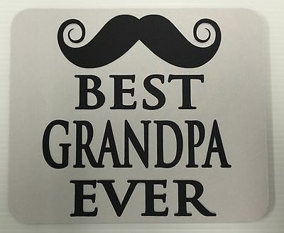 Mouse Pad Custom Printed Best Grandpa Ever Logo Advertisement Tick