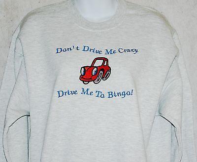 Ride Embroidered Sweatshirt - Casino Sweatshirt, Funny Embroidered Sweatshirt,  Drive Me To Casino, AGIFT 380