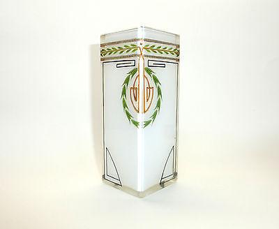 Jugendstil Vase Glas Josef Riedel um 1900 Milchglas B-457