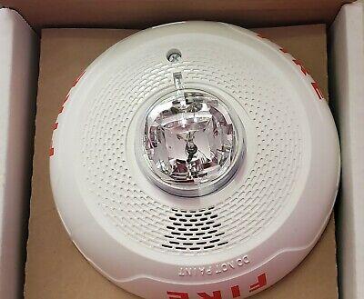 System Sensor Scwl White Ceiling Horn Strobe Fire Alarm 2 Wire New 783863047510