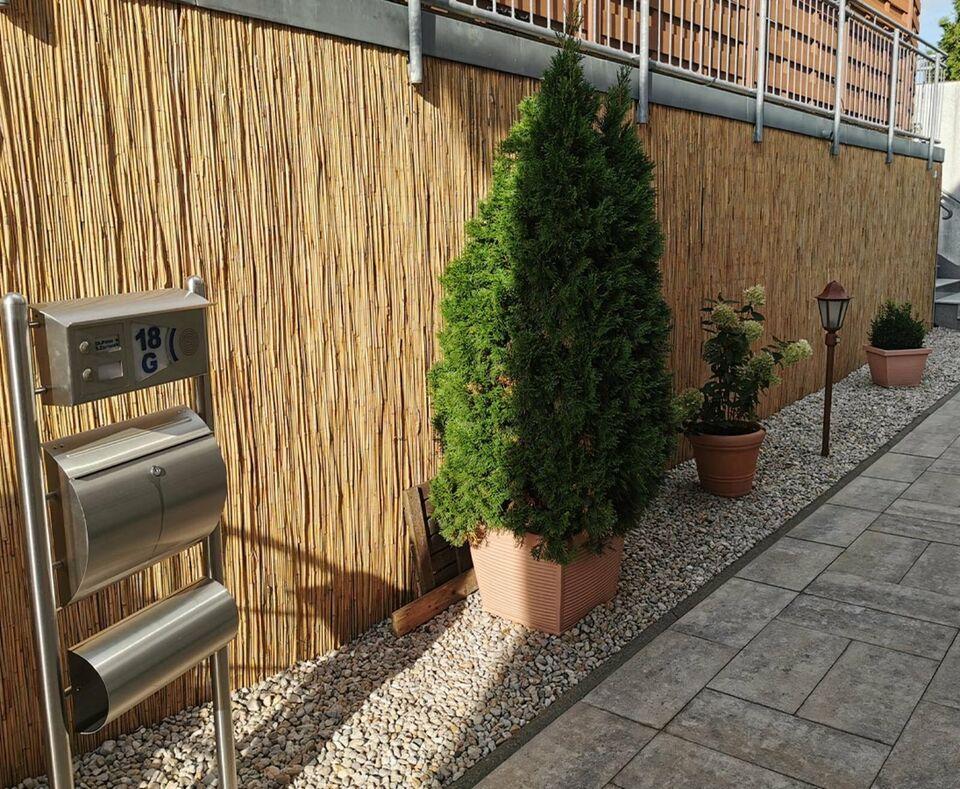 Schilfrohrmatte 240x600cm als Sichtschutz verzinkter Draht #12118 in Jettenbach