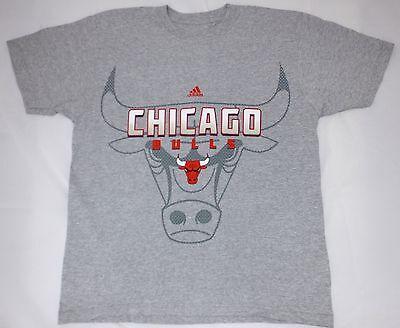 Official NBA licensed chicago bulls basketball team adidas T-shirt