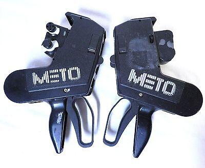 2 Meto Esselite 876 236 8 Digit Pricing Label Gun Made In West Germany