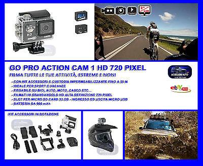 Telecamera casco bici moto sport go pro gopro video auto impermeabile hd 720