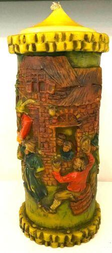 Vintage Walldurn Baden Johann Gunter German Hand Craved Candle