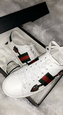 Authentic Gucci Ace Embroidered Sneakers UK SIZE 5