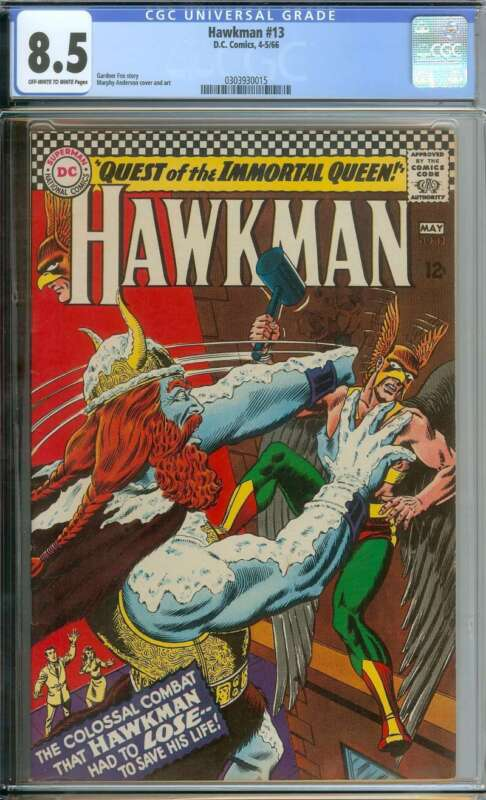 HAWKMAN #13 CGC 8.5 OW/WH PAGES