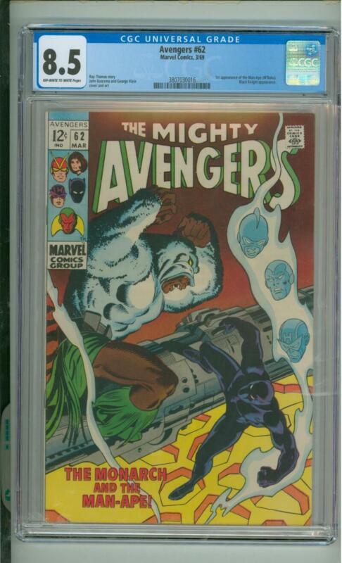Avengers #62  8.5 CGC  1st App Of The Man-Ape (M