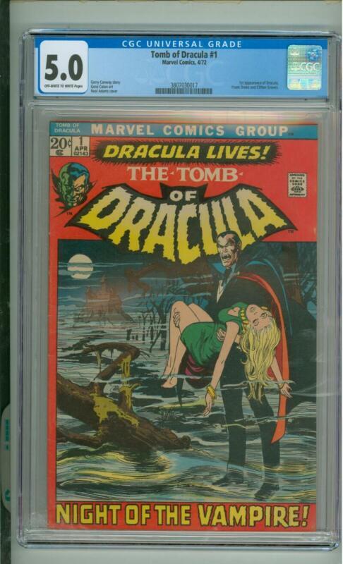 Tomb Of Dracula #1 CGC 5.0 1st App Of Dracula 1972